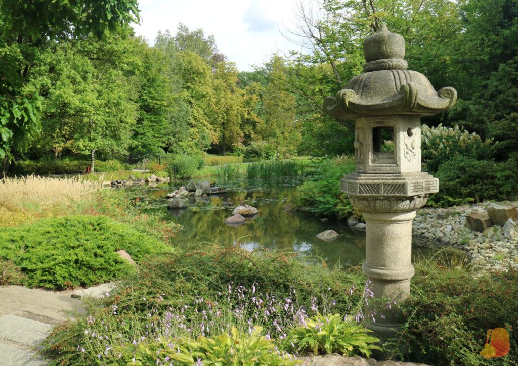 Jardin japones con su río y sus piedritas