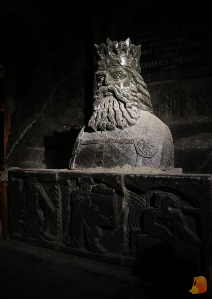 Estatua de sal del rey Casimiro III