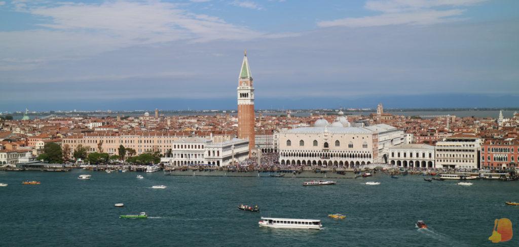 Panorámica de San Marcos desde la torre de San Giorgio Maggiore