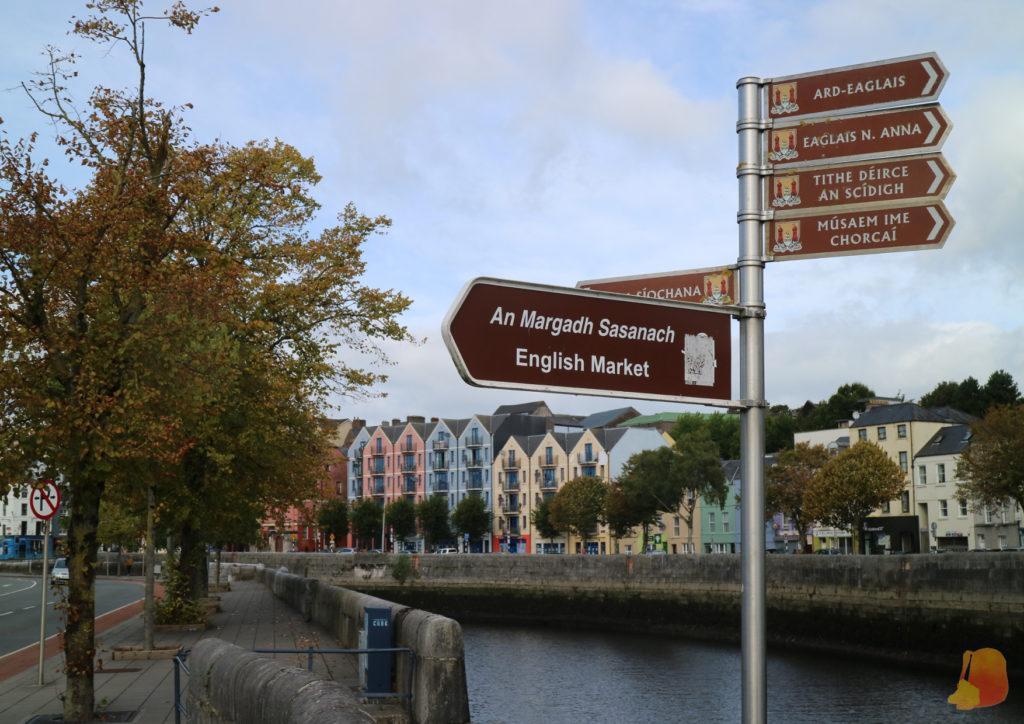 Señalización escrita en irlandés