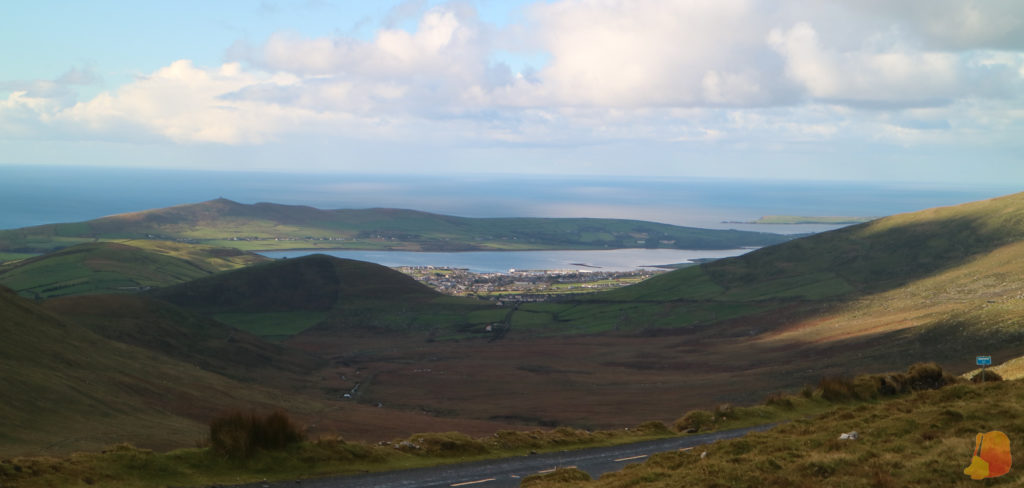 Vistas de Dingle desde Connor Pass