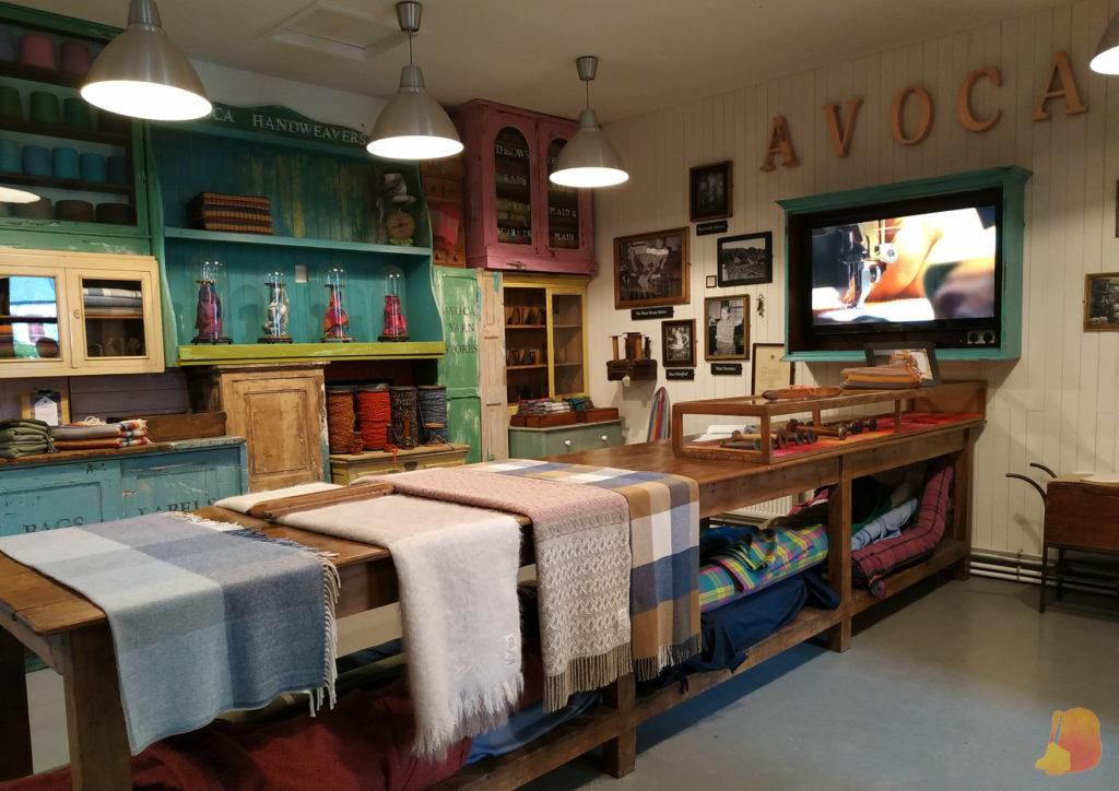 Exposición sobre los tejidos de Avoca