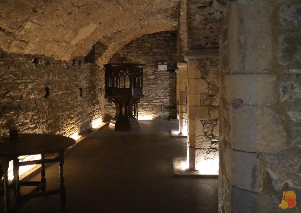 Sala abovedada de época medieval