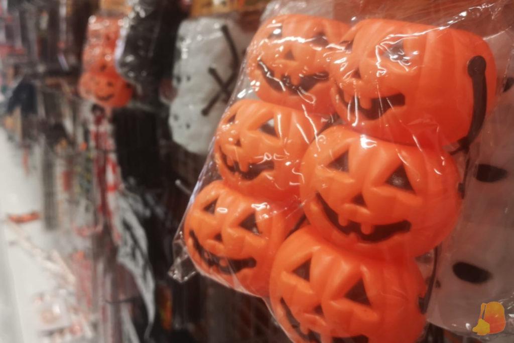 Calabazas de Halloween de plástico