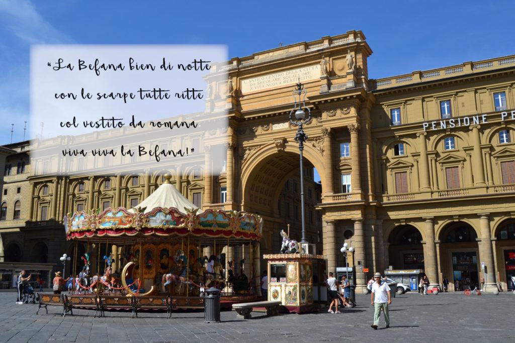 Florencia en Navidad y cancion de la Befana